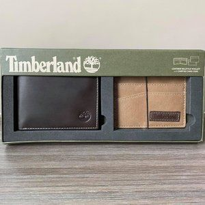 TIMBERLAND LEATHER BILLFOLD WALLET & CARD CASE
